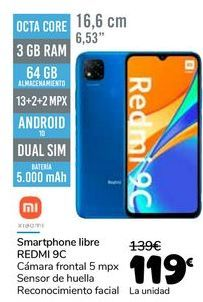 Oferta de XIAOMI Smartphone libre REDMI 9C por 119€