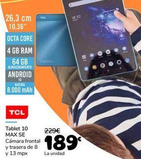 Oferta de TCL Tablet 10 MAX SE por 189€
