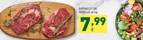 Oferta de Entrecot de novillo, el kg por 7,99€