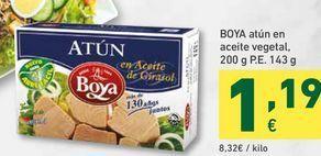 Oferta de Boya atún en aceite vegetal, 200 g P.E. 143g por 1,19€