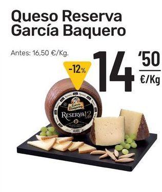 Oferta de Queso reserva García Baquero por 14,5€