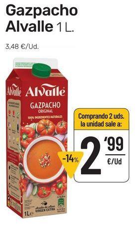 Oferta de Gazpacho Alvalle 1 l por 3,48€