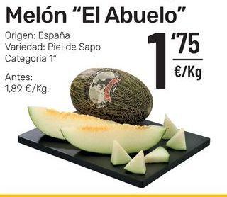 Oferta de Melón El Abuelo por 1,75€