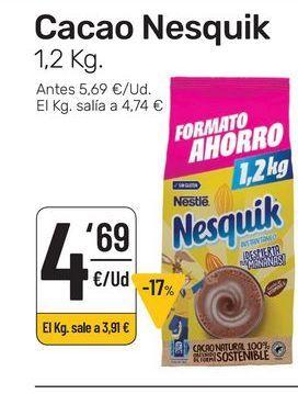 Oferta de Cacao Nesquik 1.2 kg. por 4,69€