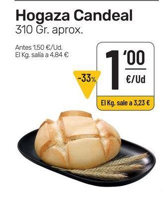 Oferta de Hogaza candeal 310 g aprox. por 1€