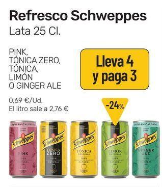 Oferta de Refresco Schweppes lata 25 cl por 0,69€