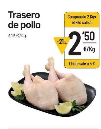 Oferta de Traseros de pollo por 3,19€