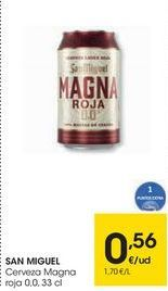 Oferta de SAN MIGUEL Cerveza Magna roja por 0,56€