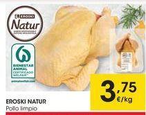 Oferta de EROSKI NATUR Pollo limpio por 3,75€