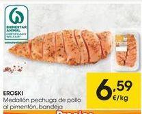Oferta de EROSKI Medallón pechuga de pollo al pimentón  por 6,59€