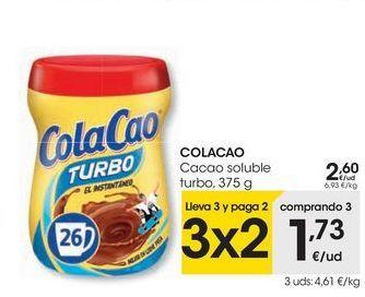 Oferta de COLACAO Cacao soluble turbo por 2,6€