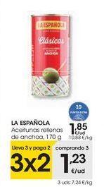 Oferta de LA ESPAÑOLA Aceitunas rellenas de anchoa por 1,85€