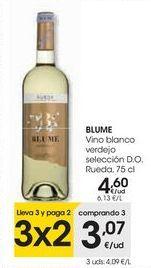 Oferta de BLUME Vino blanco verdejo Selección D.O. Rueda por 4,6€