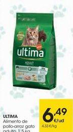 Oferta de ULTIMA Alimento de pollo-arroz gato adulto por 6,49€