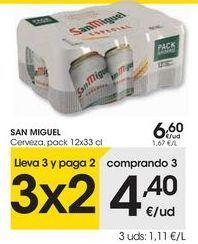Oferta de SAN MIGUEL Cerveza por 6,6€