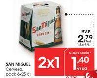 Oferta de SAN MIGUEL Cerveza por 2,79€