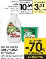 Oferta de Detergente líquido Ultra ARIEL  por 10,69€
