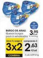 Oferta de BURGO DE ARIAS Queso fresco natural  por 3,95€