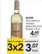 Oferta de Vino blanco verdejo selección D.O Rueda BLUME  por 4,6€