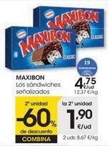 Oferta de MAXIBON Los sándwich señalizados por 4,75€