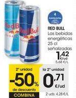 Oferta de RED BULL Las bebidas energéticas señalizadas  por 1,42€