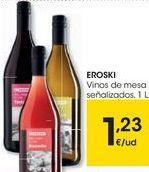 Oferta de EROSKI Vinos de mesa señalizados  por 1,23€