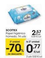 Oferta de SCOTTEX Papel higiénico húmedo  por 2,57€