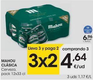 Oferta de MAHOU CLÁSICA Cerveza por 6,96€