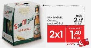 Oferta de SAN MIGUEL Cerveza por 2,75€