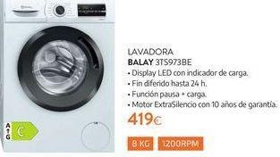 Oferta de Lavadoras Balay por 419€
