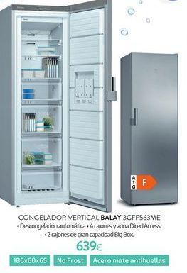 Oferta de Congelador vertical Balay por 639€