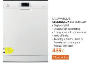 Oferta de Lavavajillas Electrolux por 439€