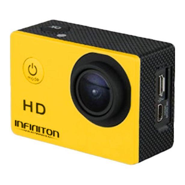 Oferta de CAMARA DEPORTIVA CAM LITE HD INFINITON AMARILLA por 49,5€