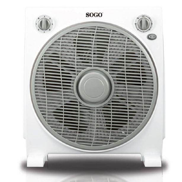 Oferta de VENTILADOR BOXFAN 30CM 45W SOGO SS21120 ROTATIVO por 21,9€