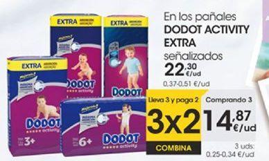 Oferta de En los pañales DODT ACTIVITY EXTRA señalizados por 14,87€