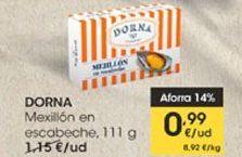 Oferta de DORNA Mexillón en escabeche, 111g por 0,99€