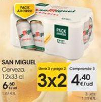 Oferta de SAN MIGUEL Cerveza, 12x33cl por 4,4€