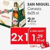 Oferta de SAN MIGUEL Cerveza 6x25cl por 1,29€