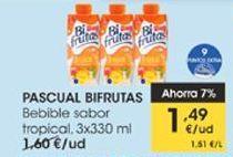 Oferta de PASCUAL BIFRUTAS Bebible sabor tropical, 3x330ml por 1,49€