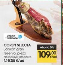 Oferta de Jamón gran reserva, pieza,  Coren Selecta por 109€