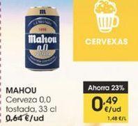 Oferta de Cerveza 0.0 tostada 33 cl Mahou por 0,49€