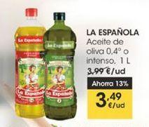 Oferta de Aceite de oliva 0,4°  o intenso, 1 l La Española por 3,49€