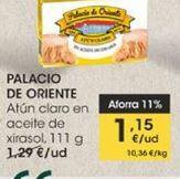 Oferta de Atún claro en aceite de girasol, 111 g Palacio de Oriente por 1,15€