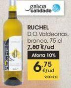 Oferta de RUCHEL D.O Valdeorras, blanco, 75 cl por 6,75€