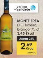 Oferta de MONTE EREA D.O Ribeiro, blanco, 75 cl por 2,69€