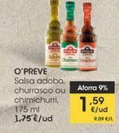 Oferta de Salsa adobo, churrasco o chimichurri, 175 ml por 1,59€
