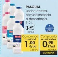 Oferta de Leche entera, semidesnatada o desnatada 1.2 l  Pascual por 1€
