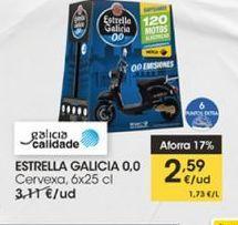 Oferta de Cerveza 6 x 25 cl  Estrella Galicia por 2,59€