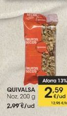 Oferta de Nueces200 g  Quivalsa por 2,59€