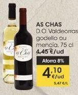 Oferta de As Chas D.O Valdeorras gedello ou mencía, 75 cl por 4,1€